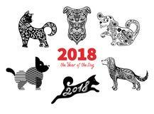 2018 år av hunden Royaltyfri Fotografi