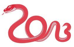 År av ormen 2013 royaltyfri illustrationer