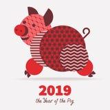 2019 år av SVINET Arkivbild
