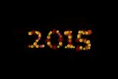 2015 år beröm med fyrverkerier royaltyfri fotografi