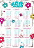år för 2011 kalenderblommor Arkivfoton