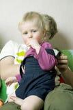 år för en stående för blond pojke unga gulliga gammala Royaltyfria Foton