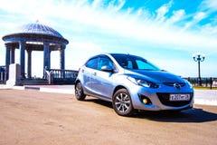År för ¼ för ¾ Ð för Mazda Ð'ÐΜÐ ¼iÐ gränsar ay 2014 med Kina Arkivfoto