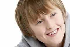 år för gammal stående för 10 pojke le Royaltyfri Fotografi
