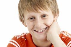 år för gammal stående för 12 pojke le Royaltyfria Bilder