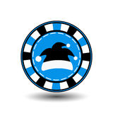 År för jul för pokerchip nytt Illustration för symbolsEPS 10 på en vit bakgrund som ska avskiljas lätt Bruk för websites, design, Arkivbilder
