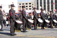 år för kinesisk marsch för 2 band mexikanskt nytt Royaltyfria Bilder