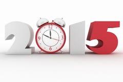 2015 år för kolonnbild för askar 3d platta Royaltyfri Fotografi