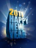 år för lycklig illustration för 2011 kort nytt Royaltyfria Bilder