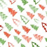 år för ny modell för jul seamless Royaltyfri Illustrationer