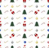 år för ny modell för jul seamless Arkivfoton