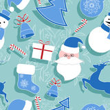 år för ny modell för jul seamless Arkivbild
