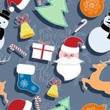 år för ny modell för jul seamless Royaltyfri Bild