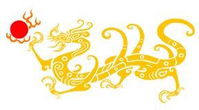 år för papper för kinessnittdrake Royaltyfri Foto