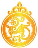 år för papper för kinessnittdrake Royaltyfri Bild