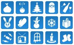 år för set för julsymbol nytt Royaltyfri Foto