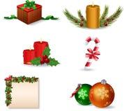 år för set för julsymbol nytt Royaltyfria Bilder