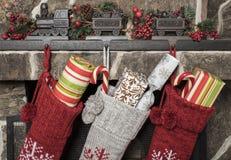 år för strumpor för julgarnering nya Arkivbilder