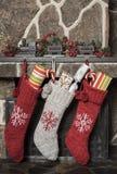 år för strumpor för julgarnering nya royaltyfri foto