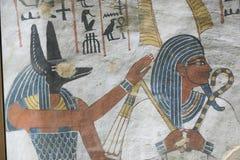 1500 år F. KR. forntida egyptiska gravar Royaltyfria Bilder