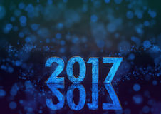 2017 år fosforescerande nummer Arkivbilder
