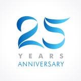 25 år gammal fira klassisk logo royaltyfri illustrationer
