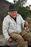 90 år gammal herde Fotografering för Bildbyråer