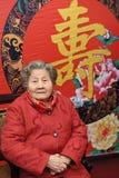 90 år gammal kvinna Fotografering för Bildbyråer
