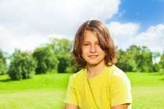12 år gammal pojkestående Royaltyfri Fotografi