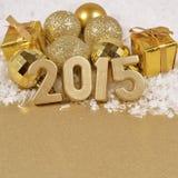 2015 år guld- diagram Royaltyfria Bilder