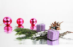 ÅR Joyeux Noel Royaltyfria Foton