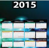 2015 år kalender stock illustrationer