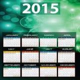 2015 år kalender vektor illustrationer