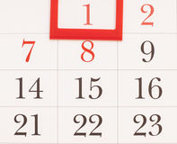 2015 år kalender Januari kalender Arkivfoto