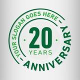 20 år mall för årsdagberömdesign Årsdagvektor och illustration Tjugo år logo vektor illustrationer