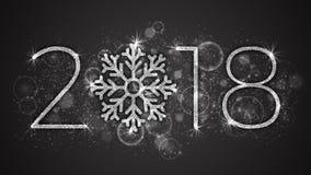 2018 år vektorillustration Royaltyfria Bilder
