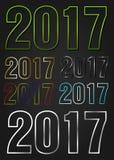 2017 år vektortypografi vektor illustrationer