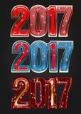 2017 år vektortypografi stock illustrationer