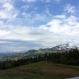 Ã…re, sweeden. View over the mountains in Ã…re, Sweeden royalty free stock photos