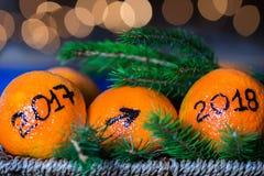 Året som ändrar från 2017 till 2018 Fotografering för Bildbyråer