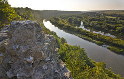 Århundrade för helig Treenighet XVII för fästningdiken Zbruch flod Royaltyfri Foto
