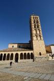 Århundrade för kyrka för St Stephen ` s 12th, Segovia Arkivbilder