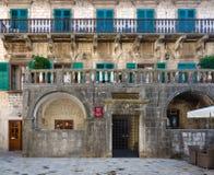Århundrade för Pima slott XVII, gammal stad, Kotor, Montenegro Arkivbild