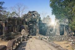 Århundrade för tempel ruins12th i Angkor Wat, Siem Reap, Cambodja fotografering för bildbyråer