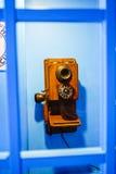 Århundrade för uppsättningar för offentlig telefon 20, från början Royaltyfri Fotografi