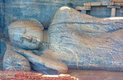12 århundrade Gal Vihara Temple Arkivbilder
