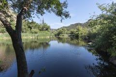 Århundrade sjö på den Malibu liten vikdelstatsparken i Kalifornien arkivfoton