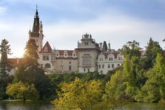 Århundrade XVI för herrgård XII i Pruhonice nära Prague, Tjeckien nära Prague royaltyfria foton
