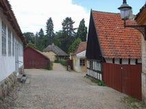 Århus gammal stad i Danmark Royaltyfria Bilder