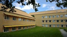 Århus universitetarkitektur - modernism royaltyfri bild